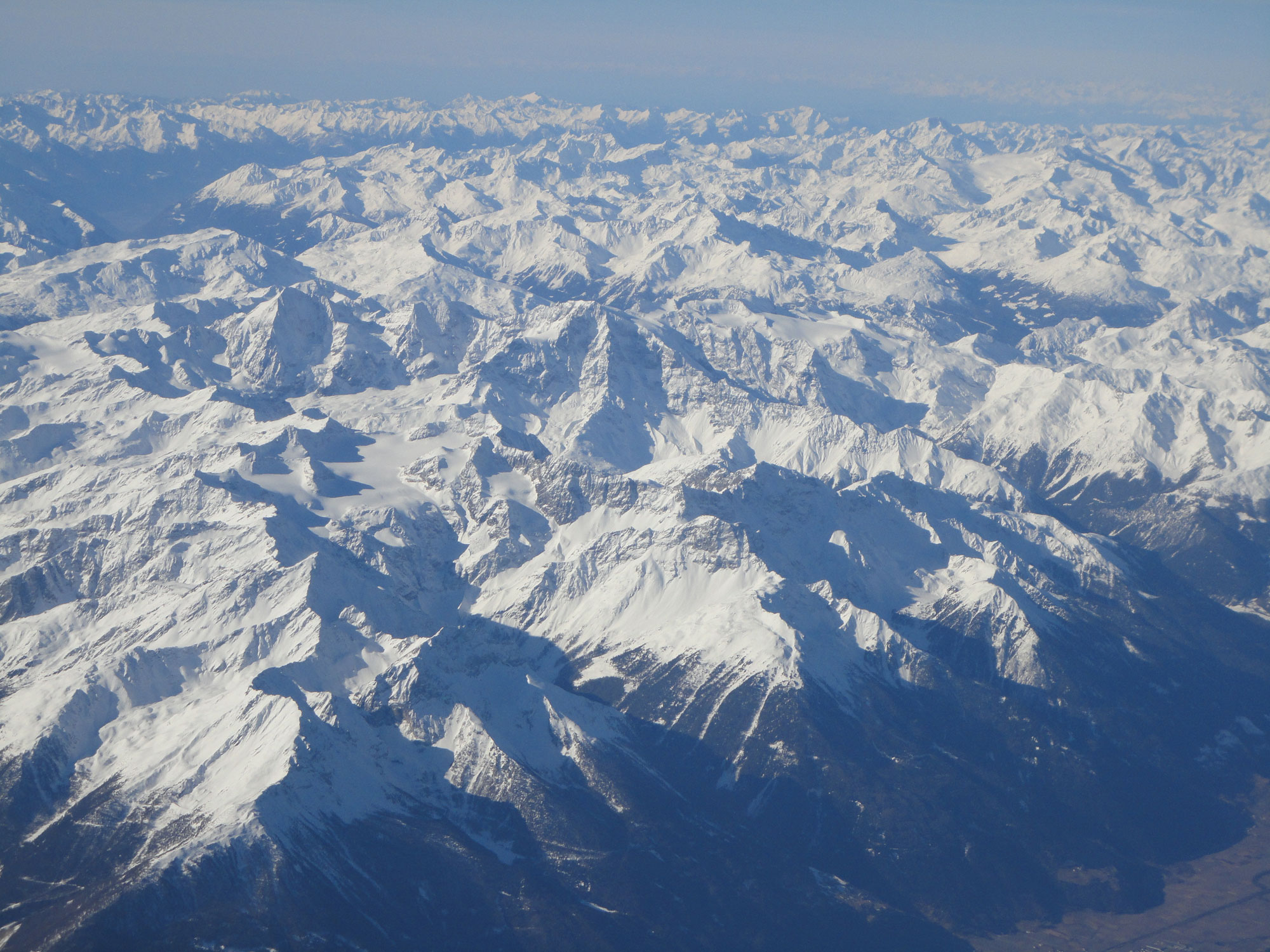 Travel Medicine - View of the Swiss Alps from my airplane window.